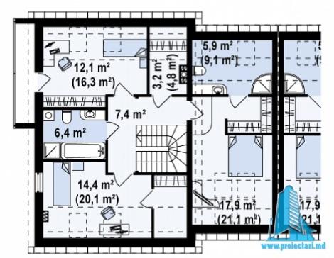 proekt-doma-dupleks-s-parterom-mansardoj-i-garazhom-dlya-odnogo-avtomobilya-m