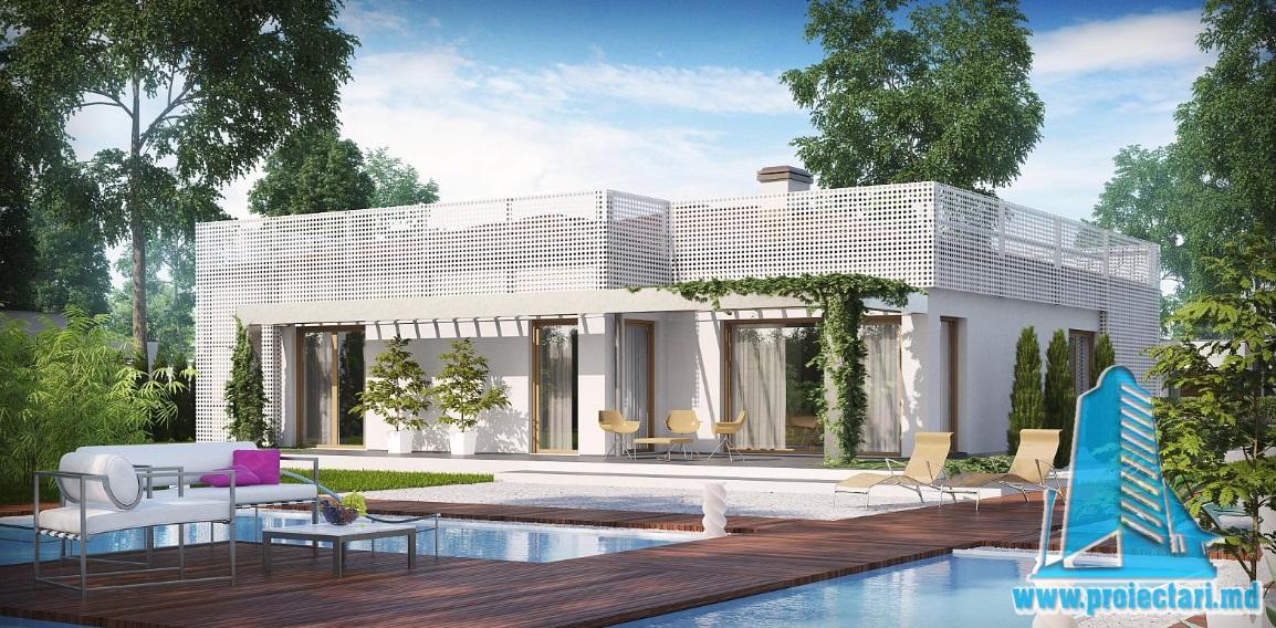 Proiect de casa cu parter si garaj pentru doua automobile-100859