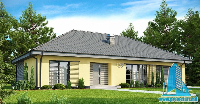 Proiect de casa cu parter si garaj pentru un automobil-100861