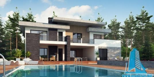 Proiect de casa cu parter, etaj si garaj pentru doua automobile-100839