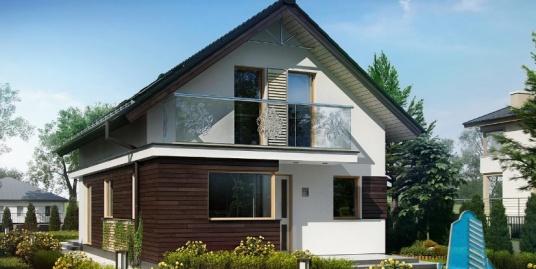 Proiect de casa cu parter si mansarda -100838