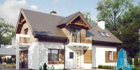 Proiect de casa cu parter si mansarda-100847