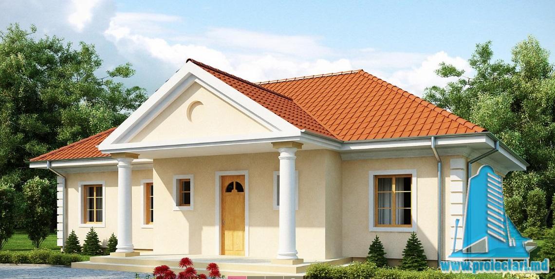 Proiect de casa cu parter si mansarda-100872