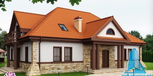 Proiect de casa cu parter si mansarda -100874