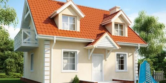 Proiect de casa cu parter si mansarda-100834