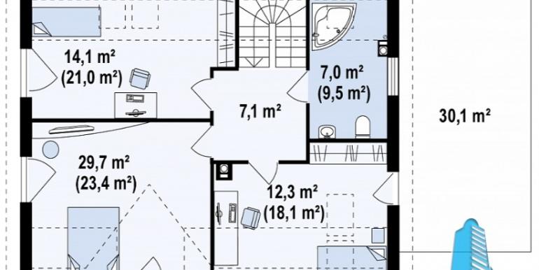 proekt-doma-s-parterom-mansardoj-i-garazhom-dlya-odnogo-avtomobilya-m