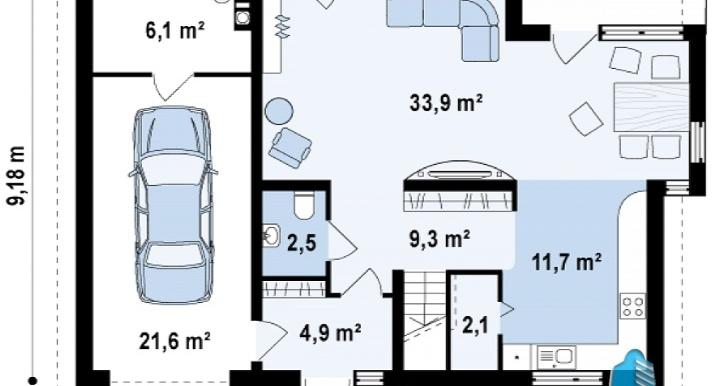 proekt-doma-s-parterom-mansardoj-i-garazhom-dlya-odnogo-avtomobilya-p