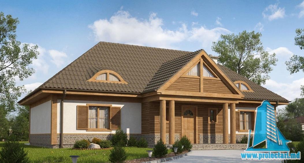 Proiect de casa cu parter si mansarda -100892