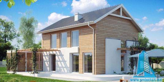 Proiect de casa cu parter si etaj-100891