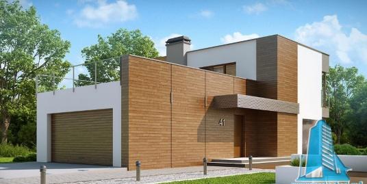 Proiect de casa cu parter, etaj si garaj pentru doua automobile-100869