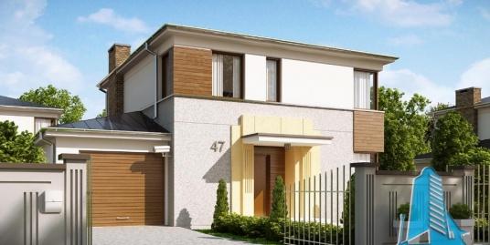Proiect de casa cu parter, etaj si garaj pentru doua automobile-100844
