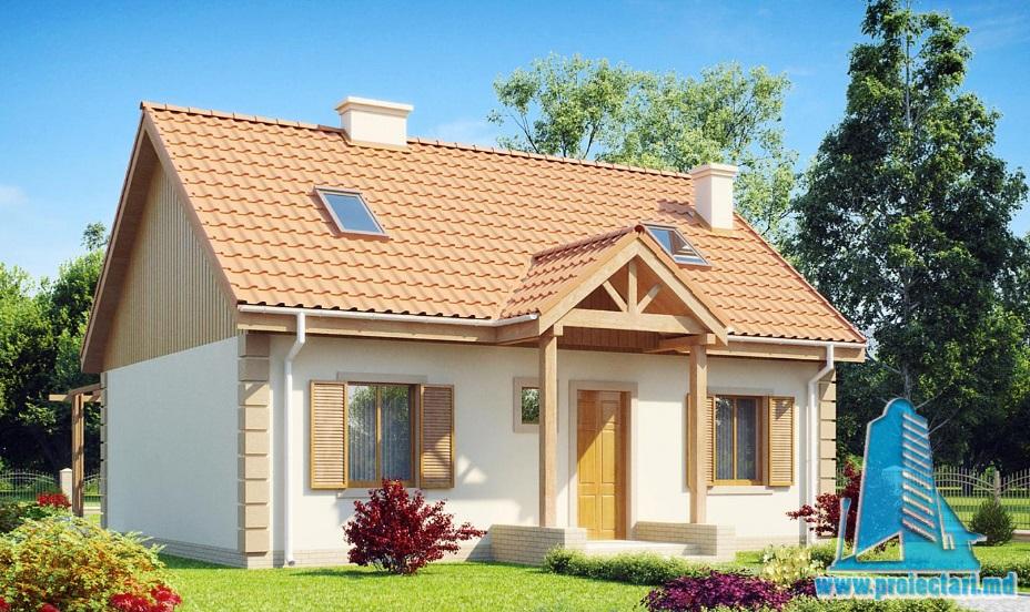 Proiect de casa cu parter si mansarda -100850