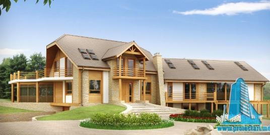 Proiect de casa cu parter si mansarda-100879