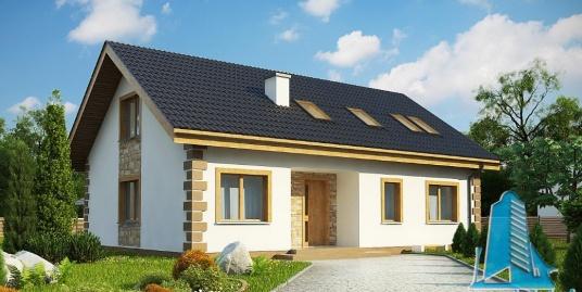 Proiect de casa cu parter si mansarda -100887