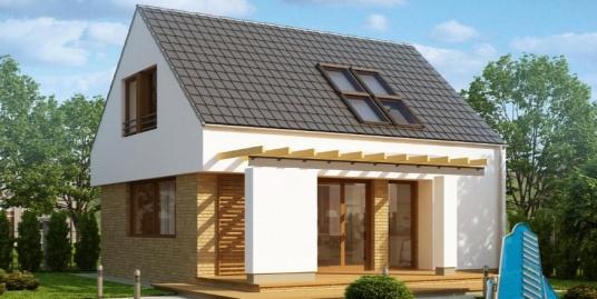 Proiect de casa cu parter si mansarda -100877