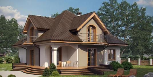 Proiect de casa cu parter si mansarda -100885