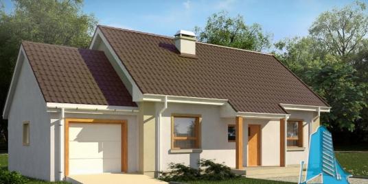 Proiect de casa cu parter, mansarda si garaj pentru un automobil-100842