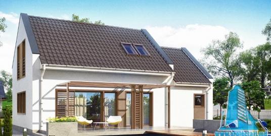 Proiect de casa cu parter, mansarda si garaj pentru un automobil-100867