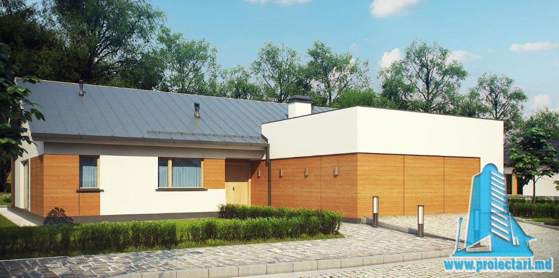 Proiect de casa cu parter si garaj pentru doua automobile-100858