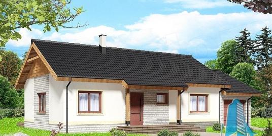 Proiect de casa cu parter si garaj pentru un automobil -100824