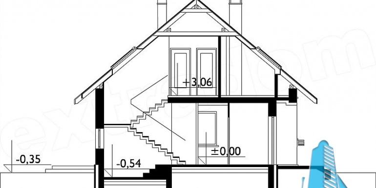 proiect-de-casa-mica-si-ieftina-cu-mansarda-sectiune