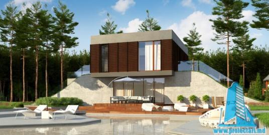 Proiect de casa cu parter, etaj si garaj pentru doua automobile-100904