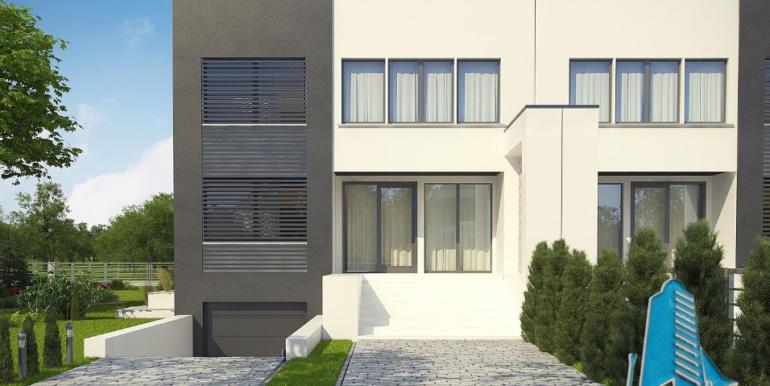 Проект двухэтажного дома с полуподвал и гаражом 4