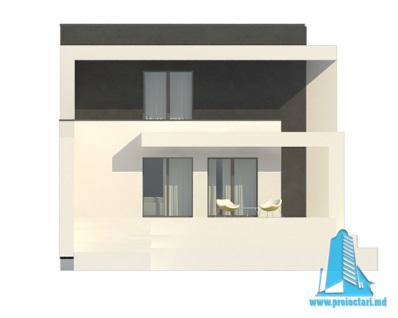 Проект двухэтажного дома с полуподвал и гаражом fatada1