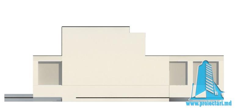 Проект двухэтажного дома с полуподвал и гаражом fatada3