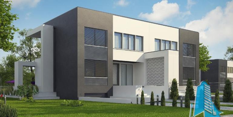 Проект двухэтажного дома с полуподвал и гаражом1