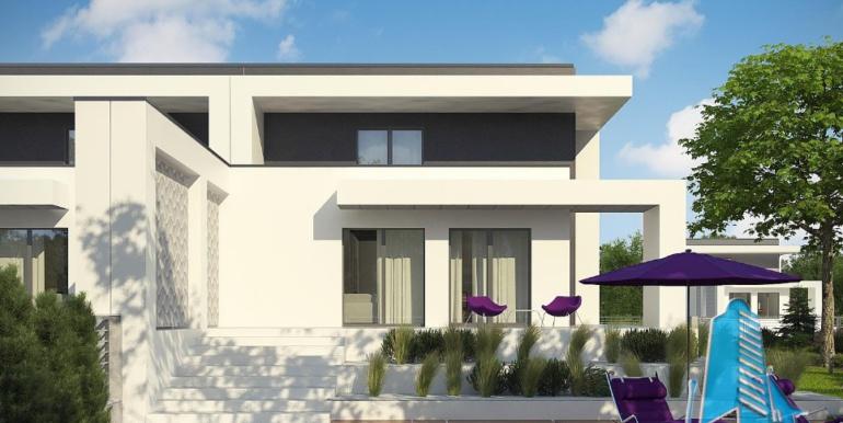 Проект двухэтажного дома с полуподвал и гаражом3