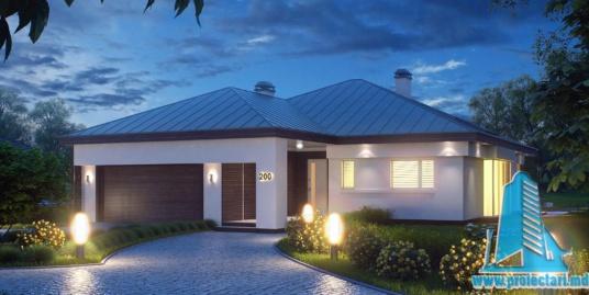 Proiect de casa cu parter si garaj pentru doua automobile-100894
