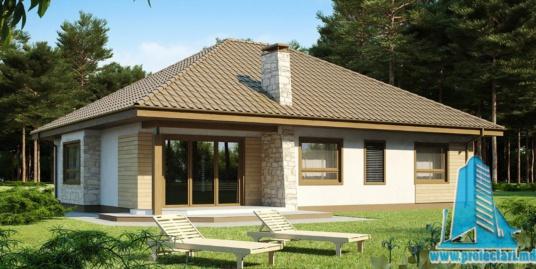 Proiect de casa cu parter si garaj pentru doua automobile-100908