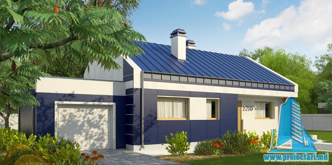 Proiect de casa cu parter si garaj pentru un automobil-100910