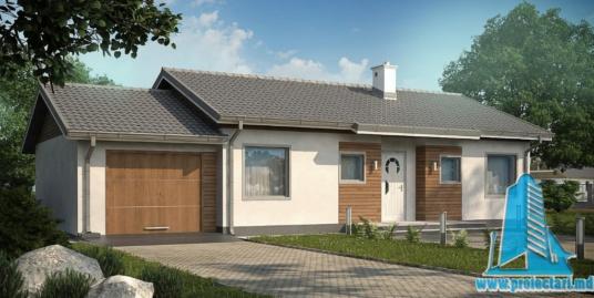 Proiect de casa cu parter si garaj pentru un automobil-100902