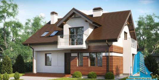 Proiect de casa cu parter si mansarda -100912