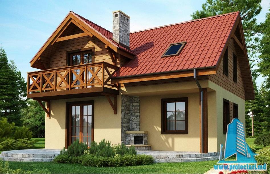 Proiect de casa cu parter si mansarda-100918
