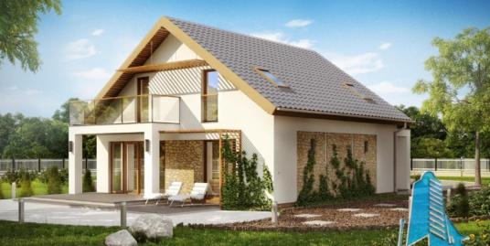 Proiect de casa cu parter si mansarda-100922