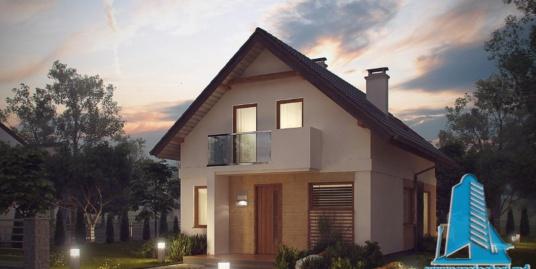 Proiect de casa cu parter si mansarda -100898