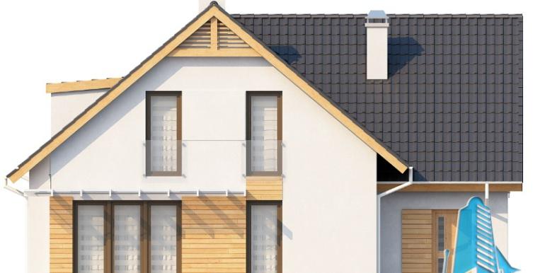 Проект дома с партером, мансардой и гаражом для одного автомобиля fatada3