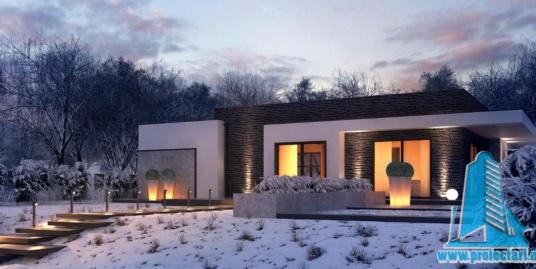 Proiect de casa cu parter si garaj pentru un automobil-100896