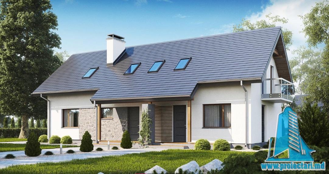 Proiect de casa cu parter si mansarda-100907