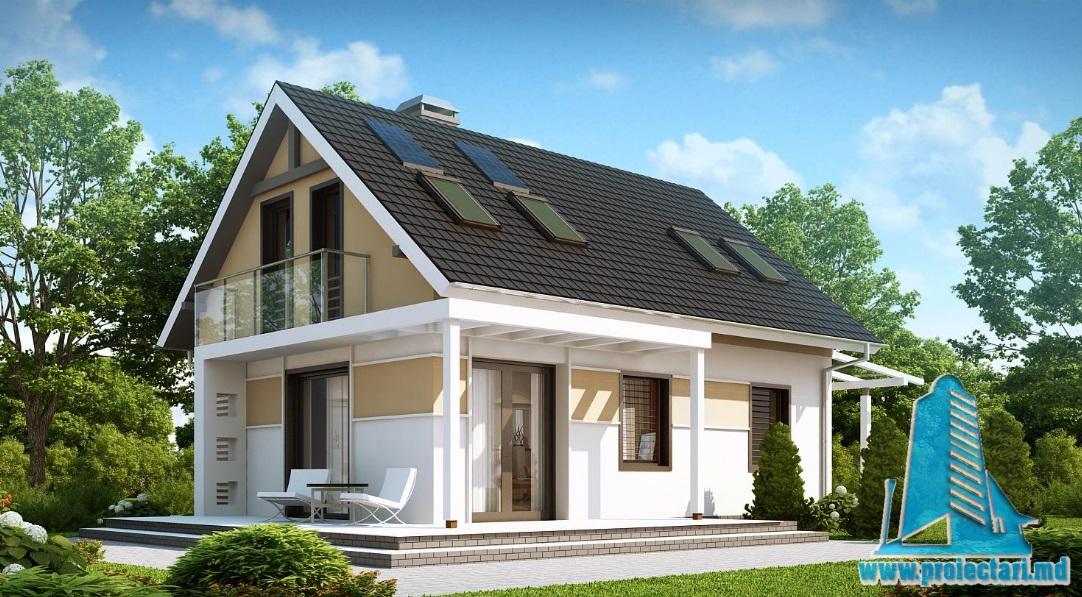 Proiect de casa cu parter si mansarda -100909