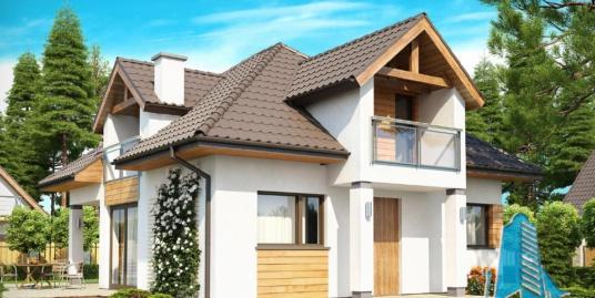 Proiect de casa cu parter si mansarda-100921