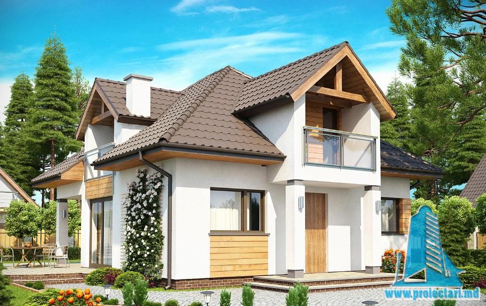 Проект дома с партером и мансардой-100921