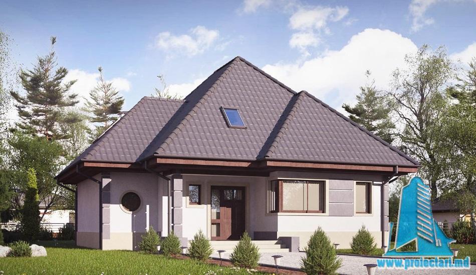 Proiect de casa cu parter si mansarda-100923