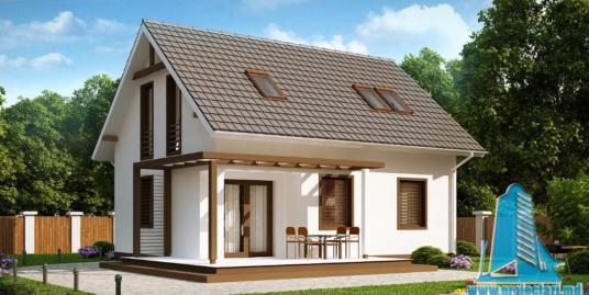 Proiect de casa cu parter si mansarda -100905