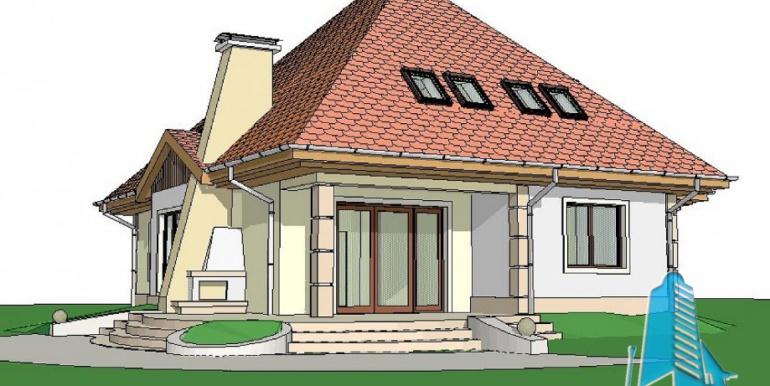 Proiect de casa cu parter, mansarda 2