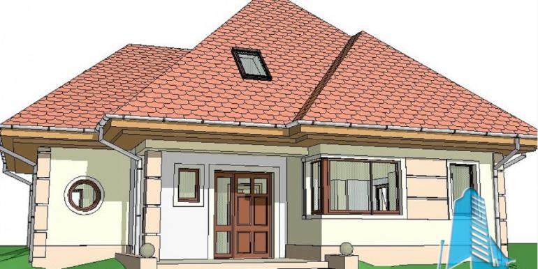 Proiect de casa cu parter, mansarda 3