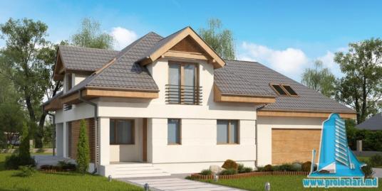 Proiect de casa cu parter, mansarda si garaj pentru doua automobile-100913